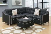 4 Pcs Sectional with ottoman- color option