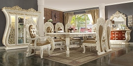 9 Pcs Antique Style Dining Table Set