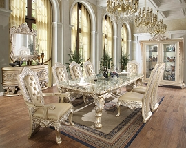 Formal Dining Set- 1 Table+ 2 Arm + 4 Chairs
