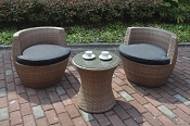 3 Pcs Patio Conversation Set-color option