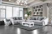 2 Pcs Sofa Set  Gray Chenille Fabric