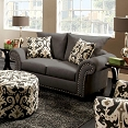 Grey Transitional Love Seat