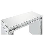 Mirrored Vanity Table with Faux Crystals Inlay