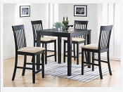 5 piece Dark Brown Counter Height Dining Set