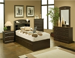 Espresso Finish Twin Chest Bed with Matress