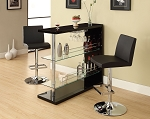 3 Piece Black Contemporary Bar set