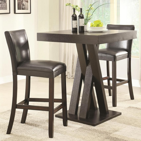 Bar Stools And Table: 3 Pcs Bar Height Table And Stool Set