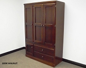 Walnut Finish Large Wardrobe
