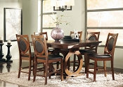 7 Pcs Contemporary Counter Height Table Set