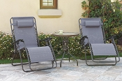3 Pcs Zero Gravity Lounger Set