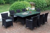 7 Pcs Outdoor Black Patio Set