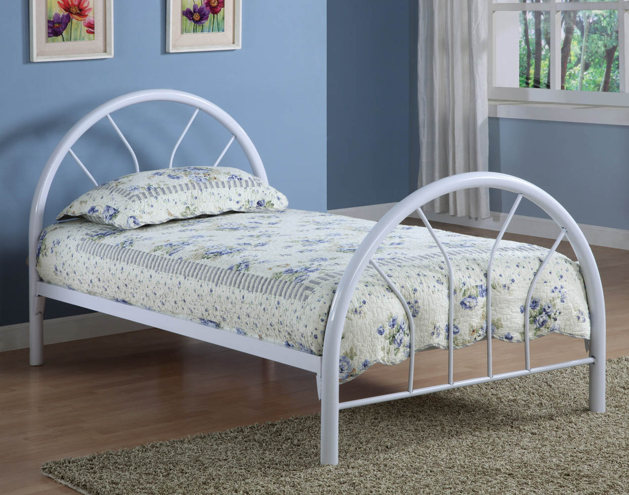 Red metal twin bed frame Metal bed frame twin
