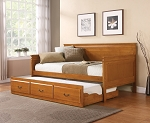 Oak Finish Wooden Day Bed