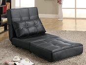 Faux Leather Convertible Chair