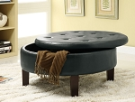 Dark Brown Circular Storage Compartment