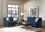 2 Piece Blue Sofa Set