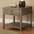 Cottage End Table with One Drawer