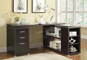 L - Shaped Espresso Finish Desk
