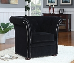 High Back Black Accent Chair