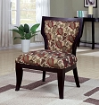 Brown, Red, and Taupe Accent Chair