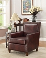 Brown Bonded Leatherette chair