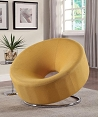 Yellow Linen Contemporary Chair