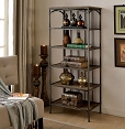 6-Tier Spacious Metal Book Case