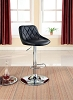 Black Adjustable Leatherette Bar Stool
