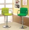 Lime or Green Swivel Barstool with Padded Armrests