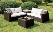 4 Pcs Ivory Patio Sofa Set