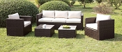 5 Pcs Ivory Patio Sofa Set