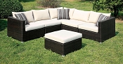 Abion Patio Ivory Sectional Set