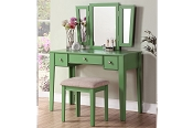 Apple Green Vanity Set with Stool