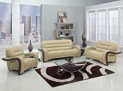 2 Pcs Beige Living Room Set