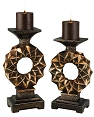2 Pcs Traditional Candle Holder Set