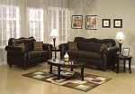 2 Piece Traditional Leather Sofas