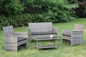 4 Pcs Patio Sofa Set