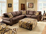Sectional  Brown Leatherette Sofa Set