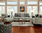 2 Pcs Gray Modern Sofa Set