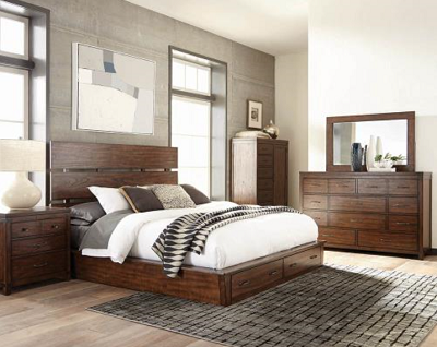 Artesia Dark Cocoa Platform Storage Bed By Scott Living