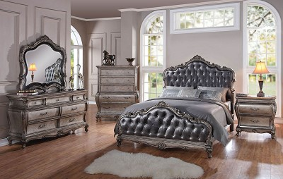 Antique Platinum Royalty Bed Frame