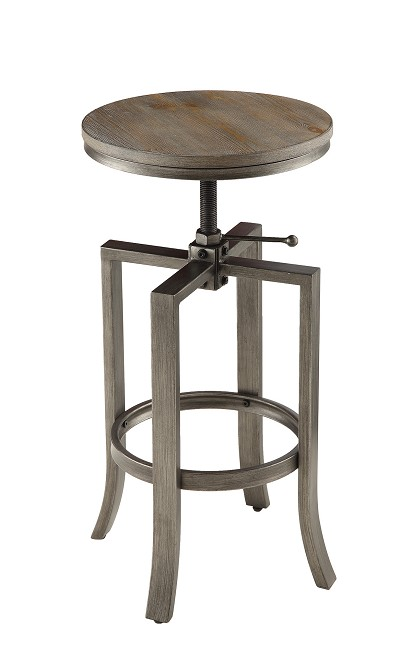 Brushed Nutmeg Adjustable Bar Stool