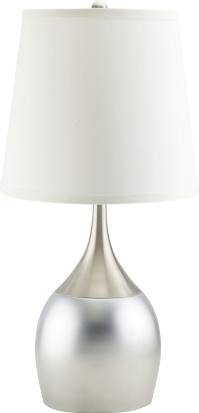 White and Silver Table Lamp