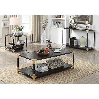 Talia Black and Gold Coffee Table