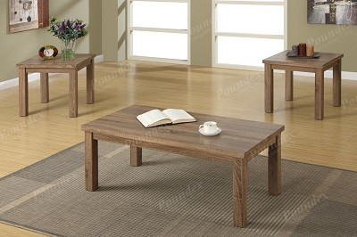 3 Pcs Ash Oak Table Set
