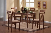 5 Pc Dining Set - Walnut wood finish