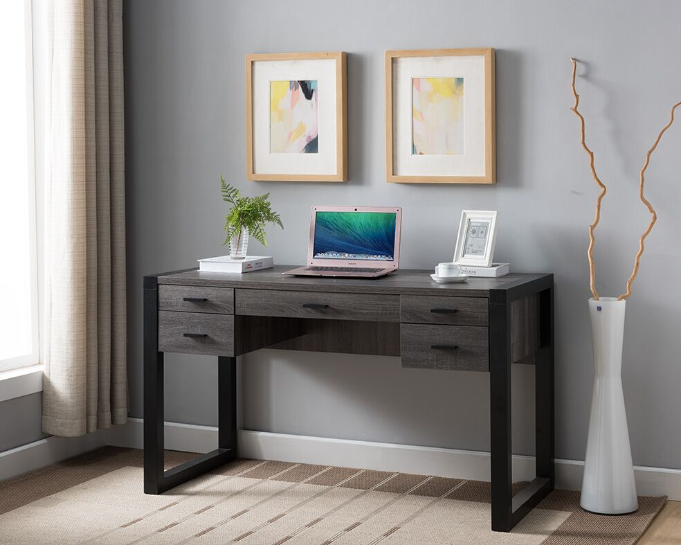 Distressed Grey Amp Black Desk