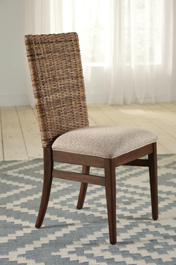 Cocoa Woven Dining Chair Pair (2)