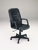 Black Split Leather Match Office Chair