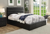 Black Leatherette Bed Frame